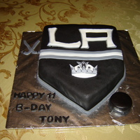 L. A. Kings Birthday Cake