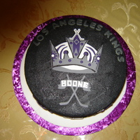 L.a. Kings Hockey Puck Cake