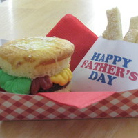Father's Day Mini Hamburgers And Fries