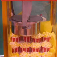 Popcorn Cupcakes Popcorn cupcakes for a Carnival theme teacher lunch at my son's elementary school. I used the popcorn machine as a display. Also made...
