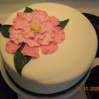 Fantasy Flower Anniversary Cake This cake I made for a friend of mine who's wedding anniversary was the day before her husband was deployed to Afghanistan. She didn&#...