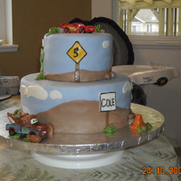 Cars Themed Cake Many CCers have inspired this cake. It seems to be a popular style. I did it as well because the design was quick and this cake was last...