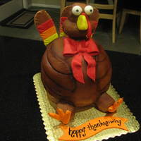 Turkey Day  This little guy looks like he just saw the knife that was going to turn him into dinner, lol. This cake was made for my mother-in-law. She...