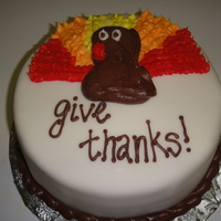 Give Thanks!   Fondant icing and buttercream accents.