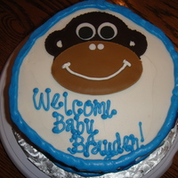 Monkey Themed Shower   Buttercream icing with fondant accents.