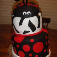 Ladybug   This was my first topsy turvy cake and it turned out great!
