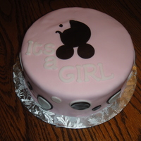 It's A Girl My cousin used the cake to tell everyone the sex of her baby!