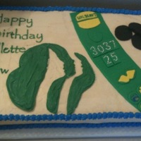 Girl Scout Juliette Low This was for a girl scout troop celebrating the founders birthday. Fondant sash with fondant accents. Green chocolate melt lettering. Black...
