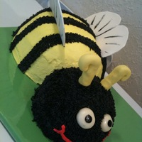 Bumble Bee Cake Made this for a customer whos friend they called 'Bumble' because she likes to wear black and yellow. They loved it and it was so...