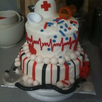 Nurses Cake Got my influence from Sue b and KarolynAndrea Thank you!!