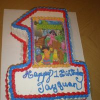 Backyardigans This is for a Little boy mother called me at 9.am wanted a #1 with backyardigans something nice for her little boys class so i came up with...