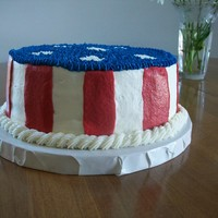 4Th Of July Cake French vanilla cake decorated in buttercream
