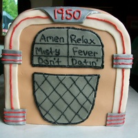Jukebox Cake Made this to go along with the Elvis cake for my father-in-laws birthday. Five of the song titles are Elvis songs and the sixth title is my...