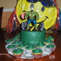 Hulk Cake I made this cake for my son's 9th Birthday. He wanted this exact cake--so here it is!