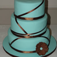 Teal And Brown Round Ribbon