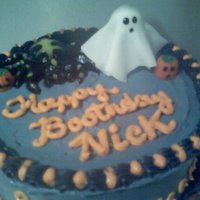 Boo- Thday Halloween birthday cake