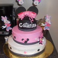 Minnie Mouse 3 tiered minnie mouse cake