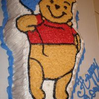 Winnie The Pooh This is part of tiger for a little boy and his cousin. Yellow cake with lots of spanish syrup.