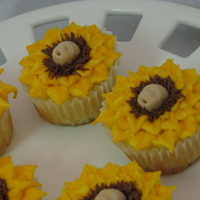 Sunflower Babies This was for a Fall baby shower. The customer wanted baby shower cupcakes in a Fall theme. So...this is what I came up with.