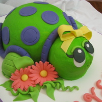 Turtle Cake This cake was made for a girls 9th birthday. Her uncle always calls her turtle...so her mom wanted a turtle cake.
