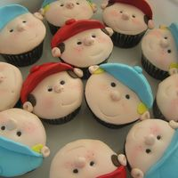 "Little Leaguers Inspired by the ""Naughty Kids"" cupcakes in the Planet Cake book."