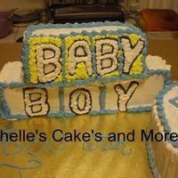 Baby Blocks This was for a baby shower. First time making baby blocks.Comments are ALWAYS appreciated Michelle :-)