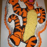 Tiger From Winnie The Pooh Tiger was yellow cake with lots of spanish syrup. was a big hit. Comments are appreciated Thank you for looking