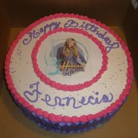 Hanna Montana Yellow Cake Spanish Style cake. This is NOT an edible picture what I do to keep the cost down is laminate the picture and keep cost for...