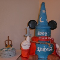 Fantasia <3 This is what I came up with for a Fantasia 1st Birthday w/ free mini cake