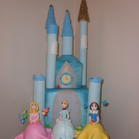 Disney Princess Castle Princess castle. With Snow white sleeping beauty Cinderella.
