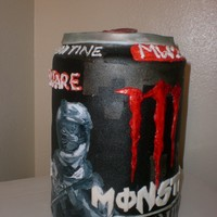 Monster Energy Drink, Limited Editon Call Of Duty Can Five 8 in cakes stacked.