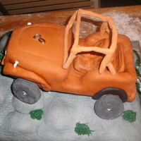 Jeep Grooms Cake This was a cake for a groom who is all into driving his Jeep. The picture was taken before it was complete, as my niece took it three hrs...