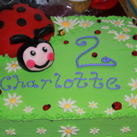 Ladybug Birthday Cake This was for a 2 year old who loves ladybugs! I was inspired by so many cakes on CC, thank you all. All the flowers, bees, ladybugs and the...
