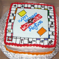 Monopoly Cake This is my first attempt at FBCT--I learned a lot. I made this cake for a little boy's 7th birthday (he loves Monopoly). Child and mom...