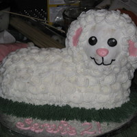 First Lamb Cake This is my first attempt at a lamb cake, made for a friend's daughter's 2nd birthday. Done all in buttercream using the standard...