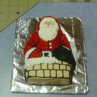 Santa White Cake with all buttercream icing