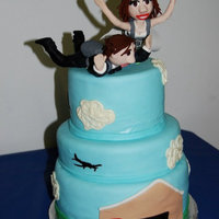 Skydiving Cake Figures are clay, not gumpaste.