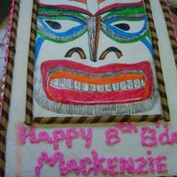 Tiki Cake Hand painted on rice paper