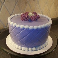 Purple Quilted Oops I Forgot Your Birthday Cake... This was a quick cake done on my way out the door with 2 kids underfoot. Was for a soon to be sister in law...