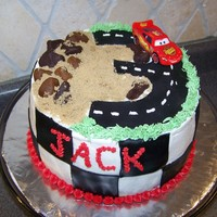 Cars 3Rd Birthday This was for my son Jackson's 3rd Birthday! Cars fan! Inspired by a cake seen here! ( I just scaled it down!) He was a happy camper!