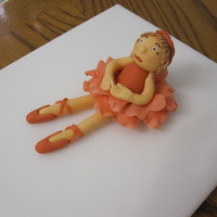 Ballerina made with gumpaste and fondant mix 50/50