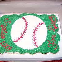 Baseball Cupcakes Baseball cupcake cake. All buttercream. The boys loved pulling this cake apart with their hands. Great for kids! Do you know how many...