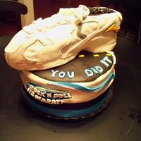 Marathon Cake Thanks for all of the great sneakers on cc for inspiration. I wish mine was as clean as those! This cake was created for a 50 man who just...