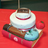 Graduation Cake For a student who plans to major in education. She was a field hockey player in H.S.
