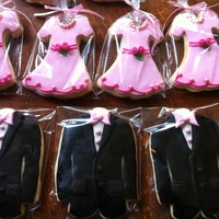 Bridal Party Cookies These cookies were presented to the bridal party at the Engagement Party. The dresses were created using a cookie cutter. I couldn't...