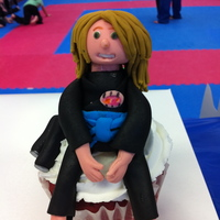 Tae Kwon Do Cupcakes  These cupcakes were for a birthday party at a Tae Kwon Do Center. I created a jumbo cupcake for the birthday girl in her likeness and the...