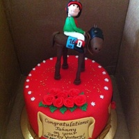 Kentucky Derby Winner's Cake I made this cake to celebrate Johnny Velasquez and Animal Kingdom's win at the Kentucky Derby. It was an honor to create this cake for...