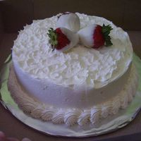 White Chocolate Strawberry This is a downy white cake, Strawberry creamcheese filling with a white chocolate buttercream icing. Finished with 3 chocolate dipped...
