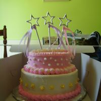 Happy 3Rd Bday I made this for a little girls 3rd birthday. All buttercream. Downy white cake.
