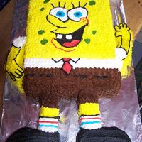 Sponge Bob Cake For Grandsons 3Rd Birthday Sponge Bob cake for my grandsons 3rd birthday. Chocolate cake with buttercream frosting. He was thrilled but didn't want his mom to...